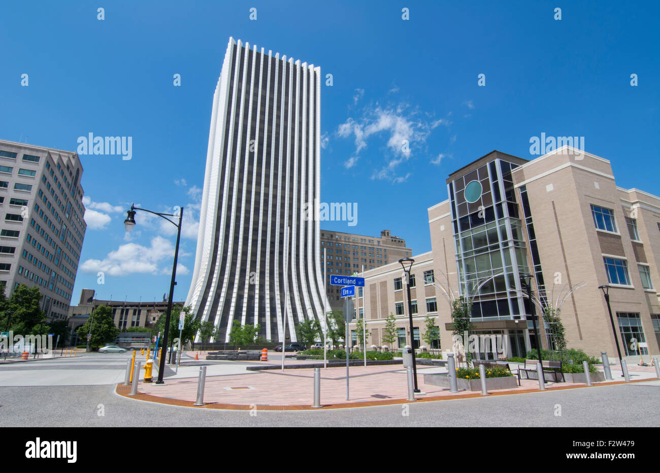 rochester new york ny downtown city chase building skyline