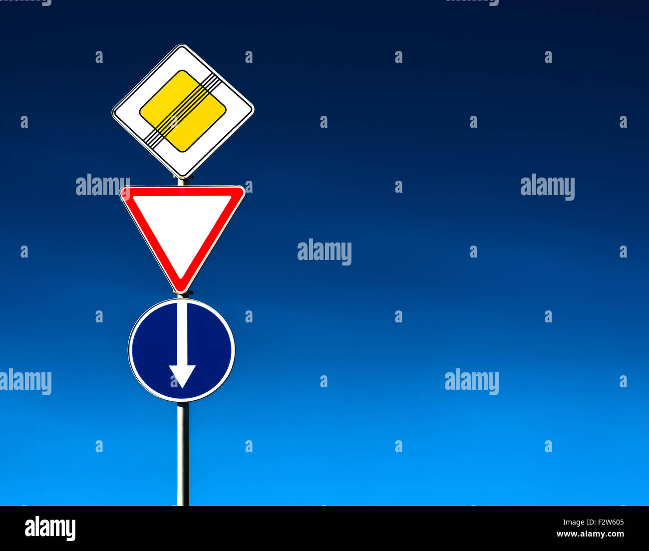 Conceptual road-sign Stock Photo