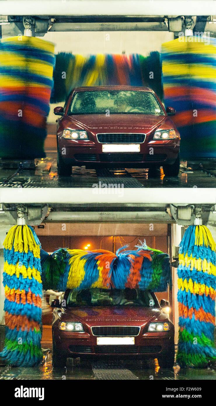 portal car-wash - Stock Image