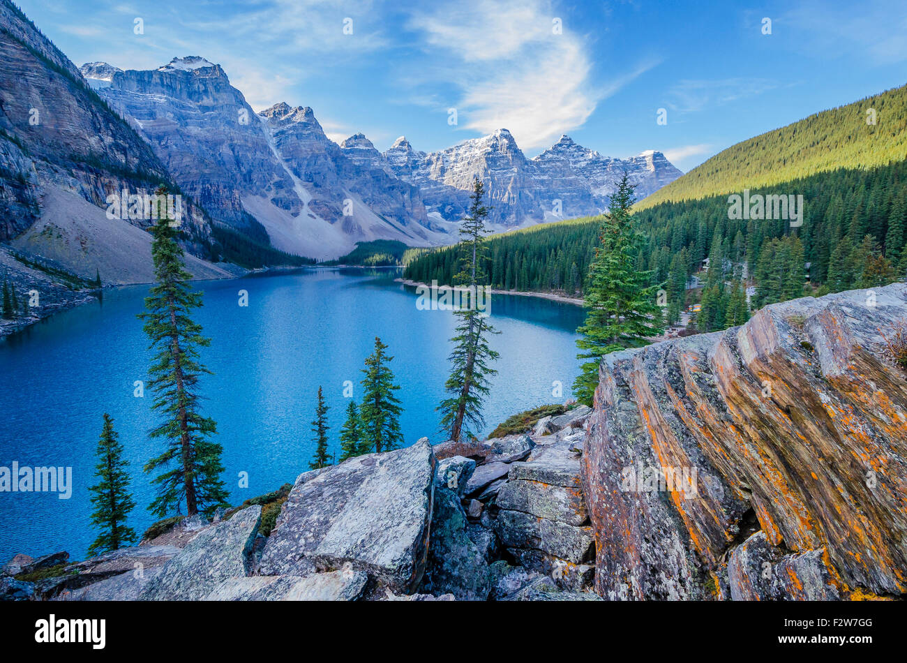 Moraine Lake,  Banff National Park, Alberta Canada - Stock Image