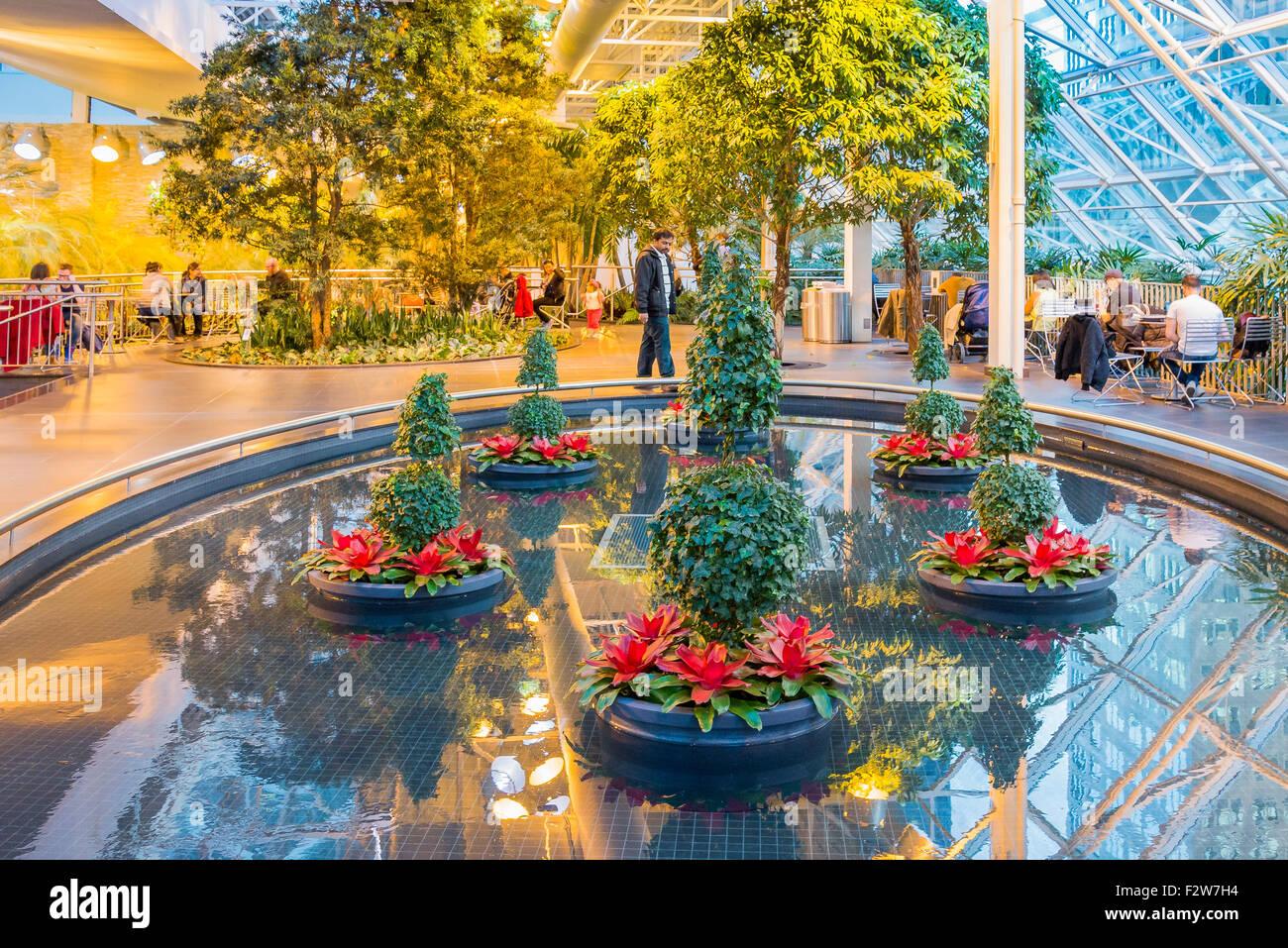 The Devonian Gardens, year round indoor Park, Calgary, Alberta, Canada - Stock Image