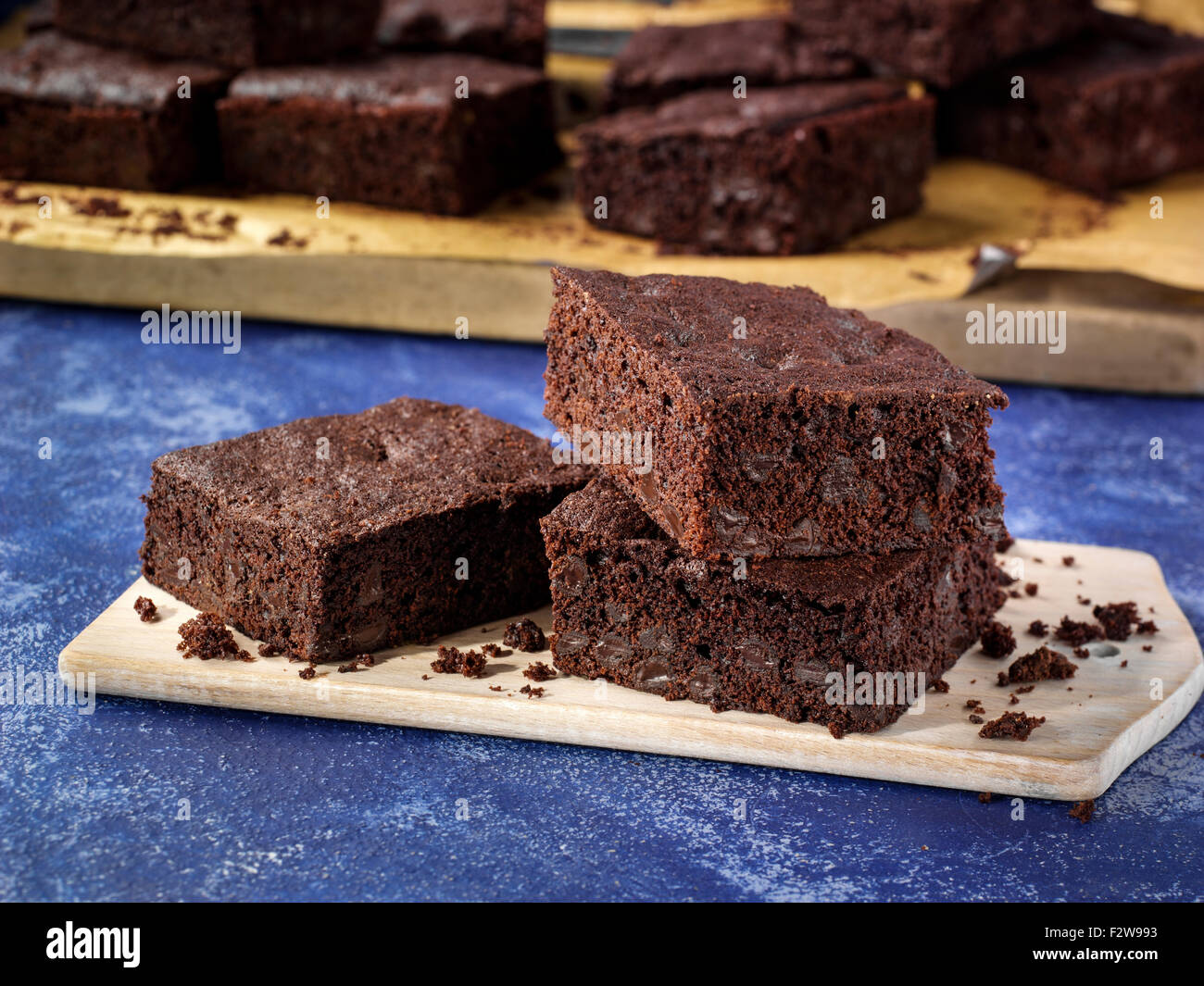 Hot chocolate brownies - Stock Image