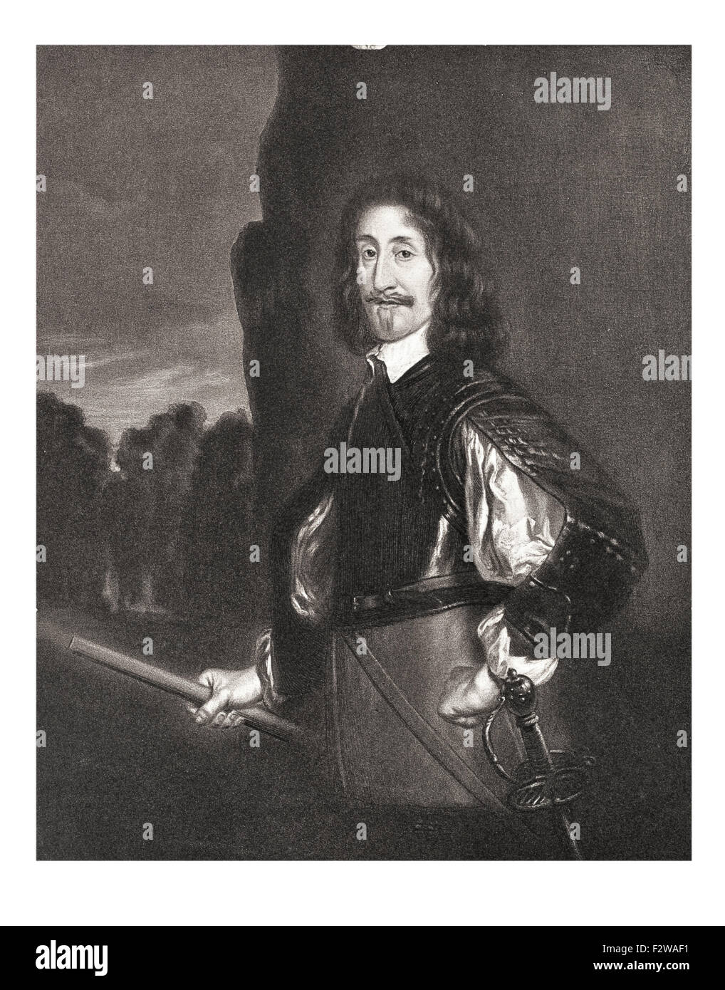 Edward Montagu, 2nd Earl of Manchester commander of Parliamentary forces in the First English Civil War Cromwell's Stock Photo