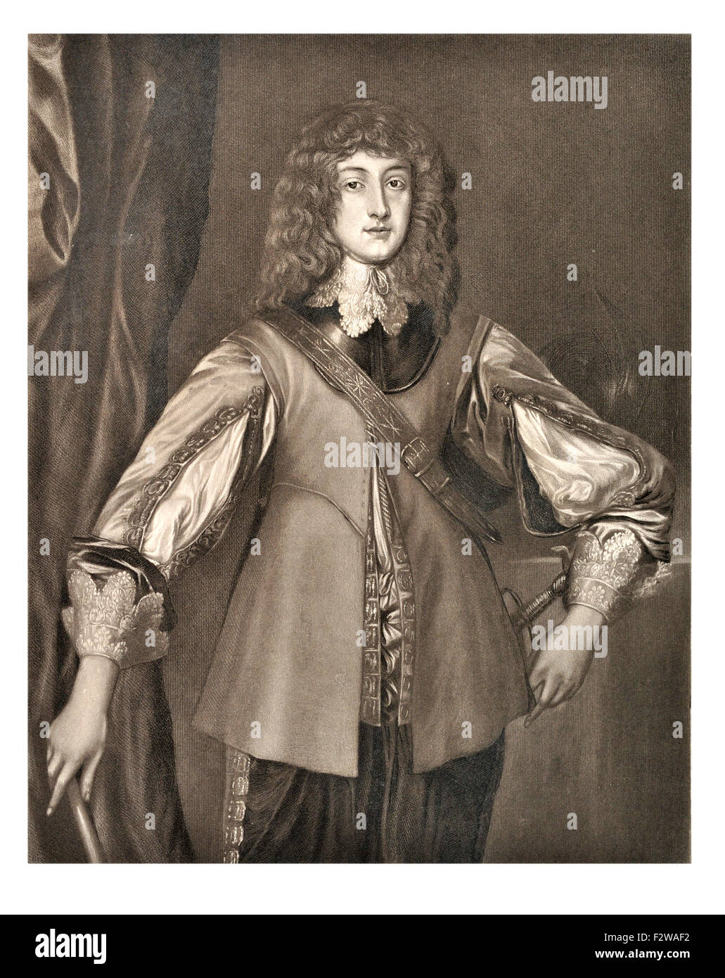Prince Rupert of the Rhine,  1619 –1682), noted German soldier, admiral, scientist, sportsman, colonial governor Stock Photo