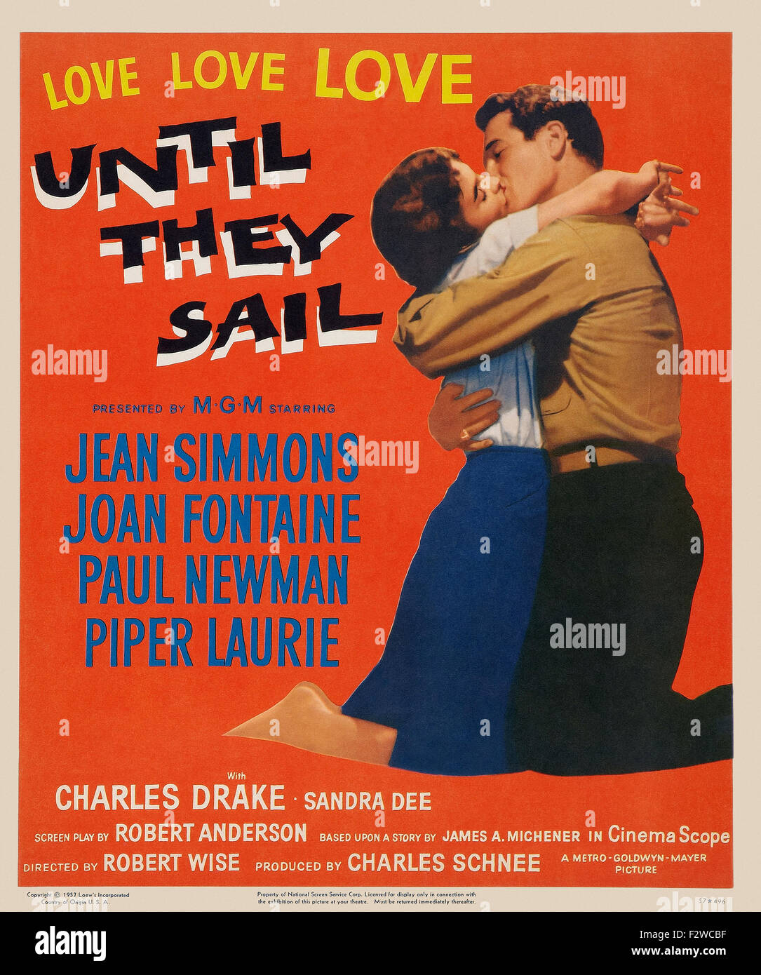 Until They Sail - Movie Poster - Stock Image