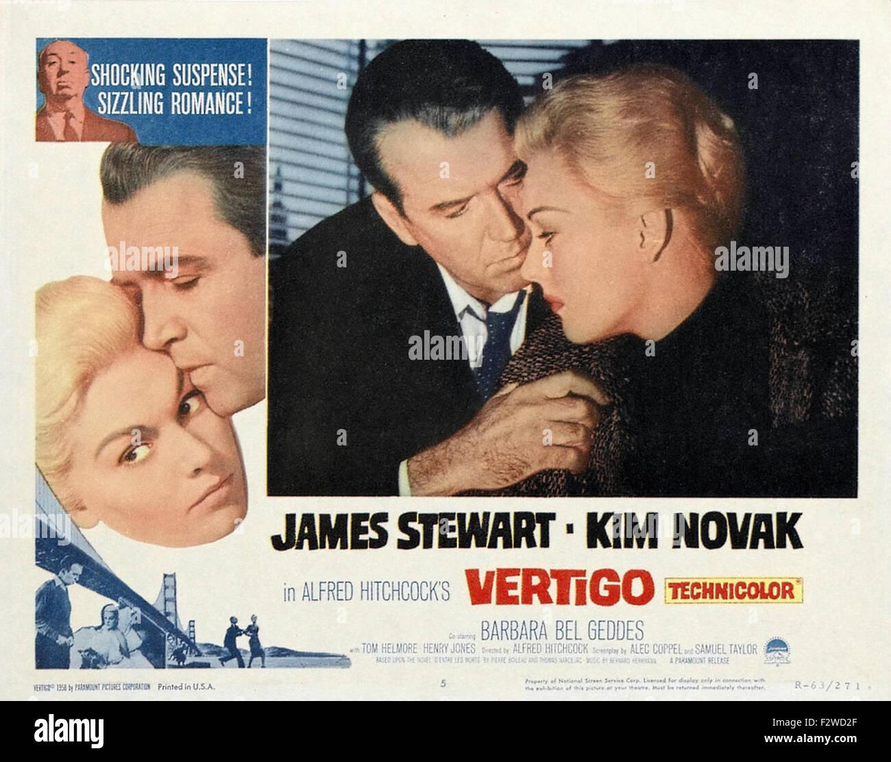 Vertigo - Movie Poster - Stock Image