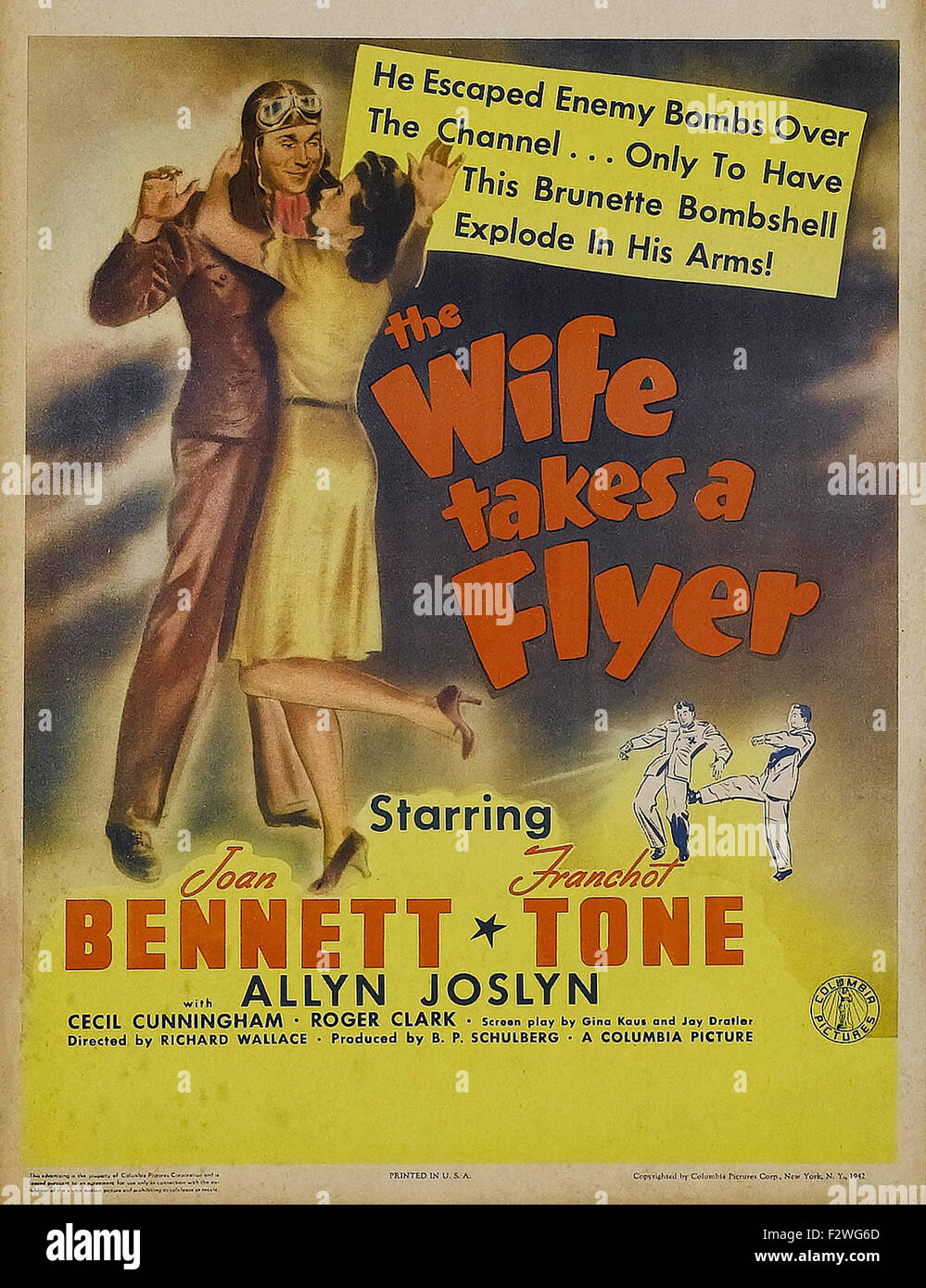 Wife Takes a Flyer, The - Movie Poster - Stock Image
