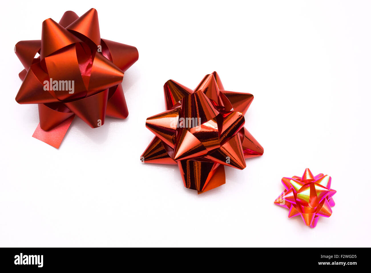 Red bows - Stock Image
