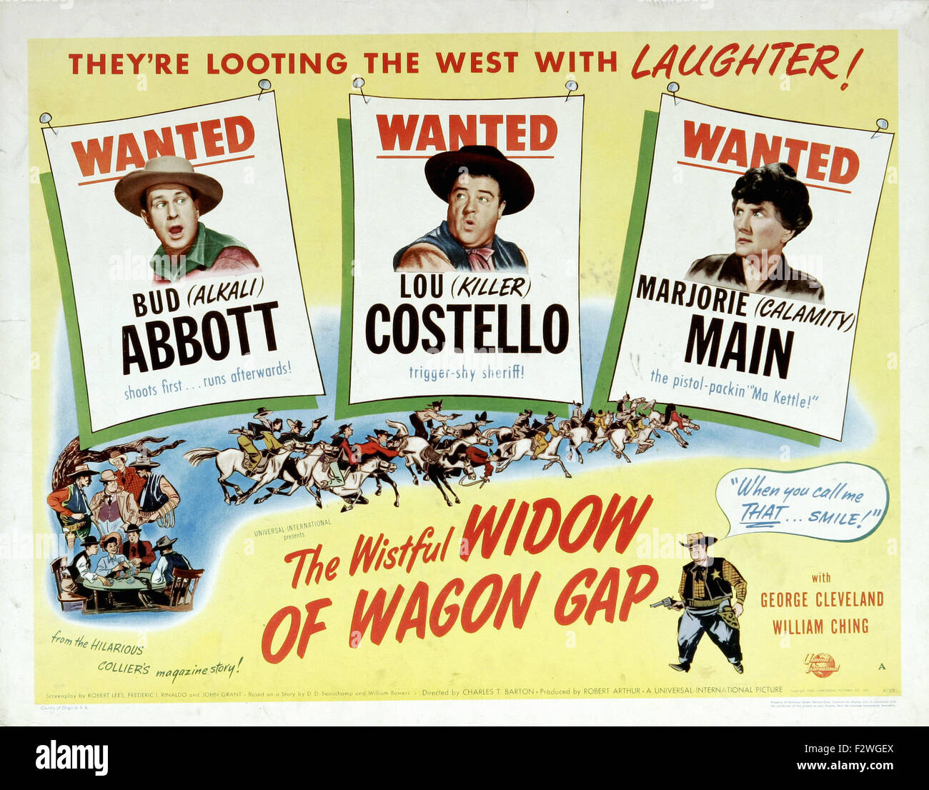 Wistful Widow of Wagon Gap, The - Movie Poster - Stock Image