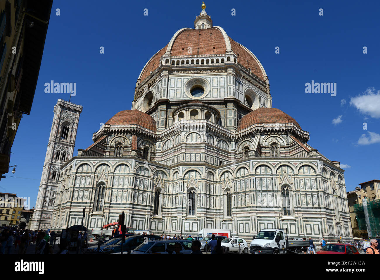 Florence Cathedral (The Duomo) situated in Piazza del Duomo, Florence, Tuscany, Italy. - Stock Image