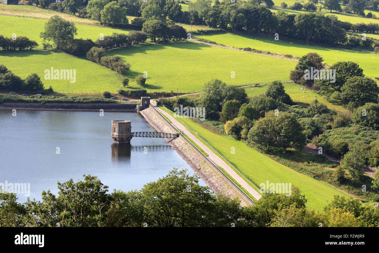 Talybont Reservoir in the Brecon Beacons, Wales - Stock Image