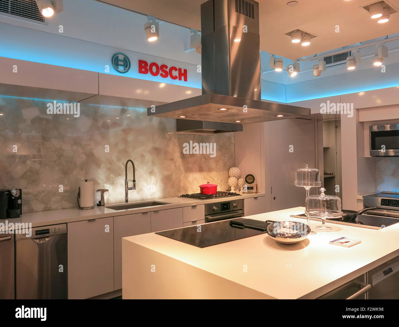 Luxury Interior Bosch Brand Kitchen Design Showroom, NYC, USA