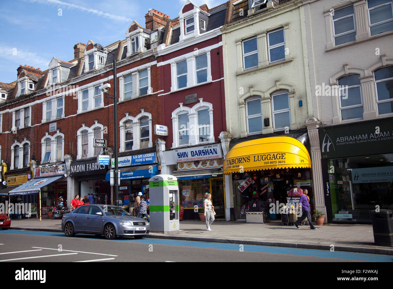 Upper Tooting Row Shops in Tooting  - London SW17 - UK - Stock Image