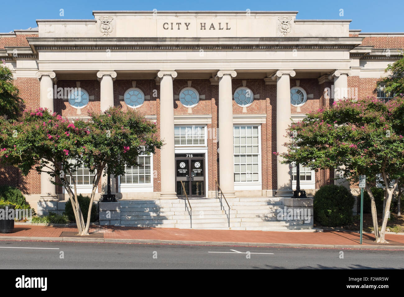 City Hall in Princess Anne Street in Fredericksburg, VA - Stock Image
