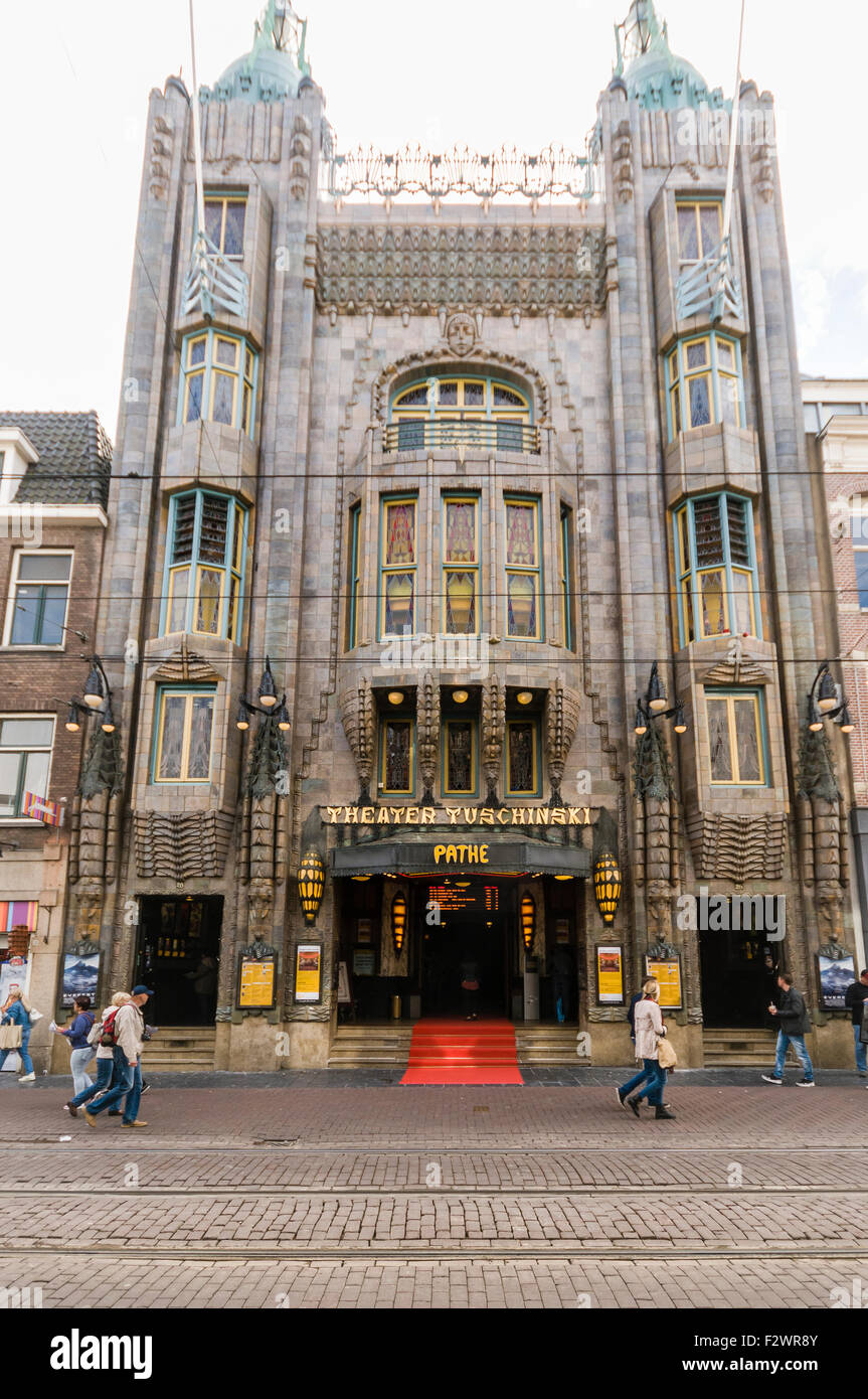 Pathe Theater Tuschinski cinema in Amsterdam - Stock Image