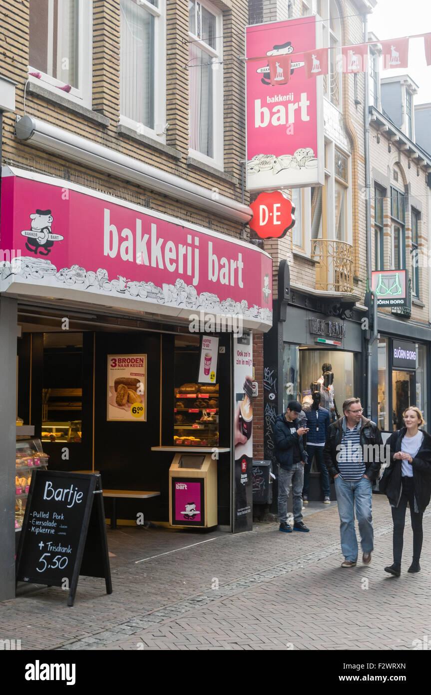 Bakkerij Bart, a chain of Dutch bakeries, Utrecht, Netherlands - Stock Image