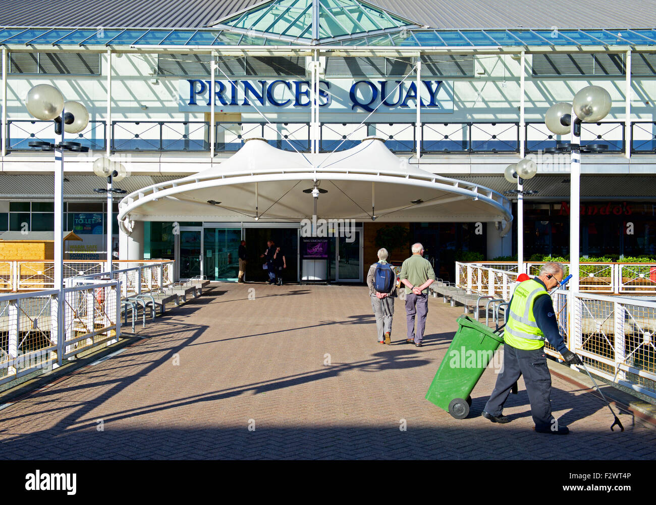 Princes Quay shopping centre, Kingston upon Hull, East Riding of Yorkshire, England UK - Stock Image