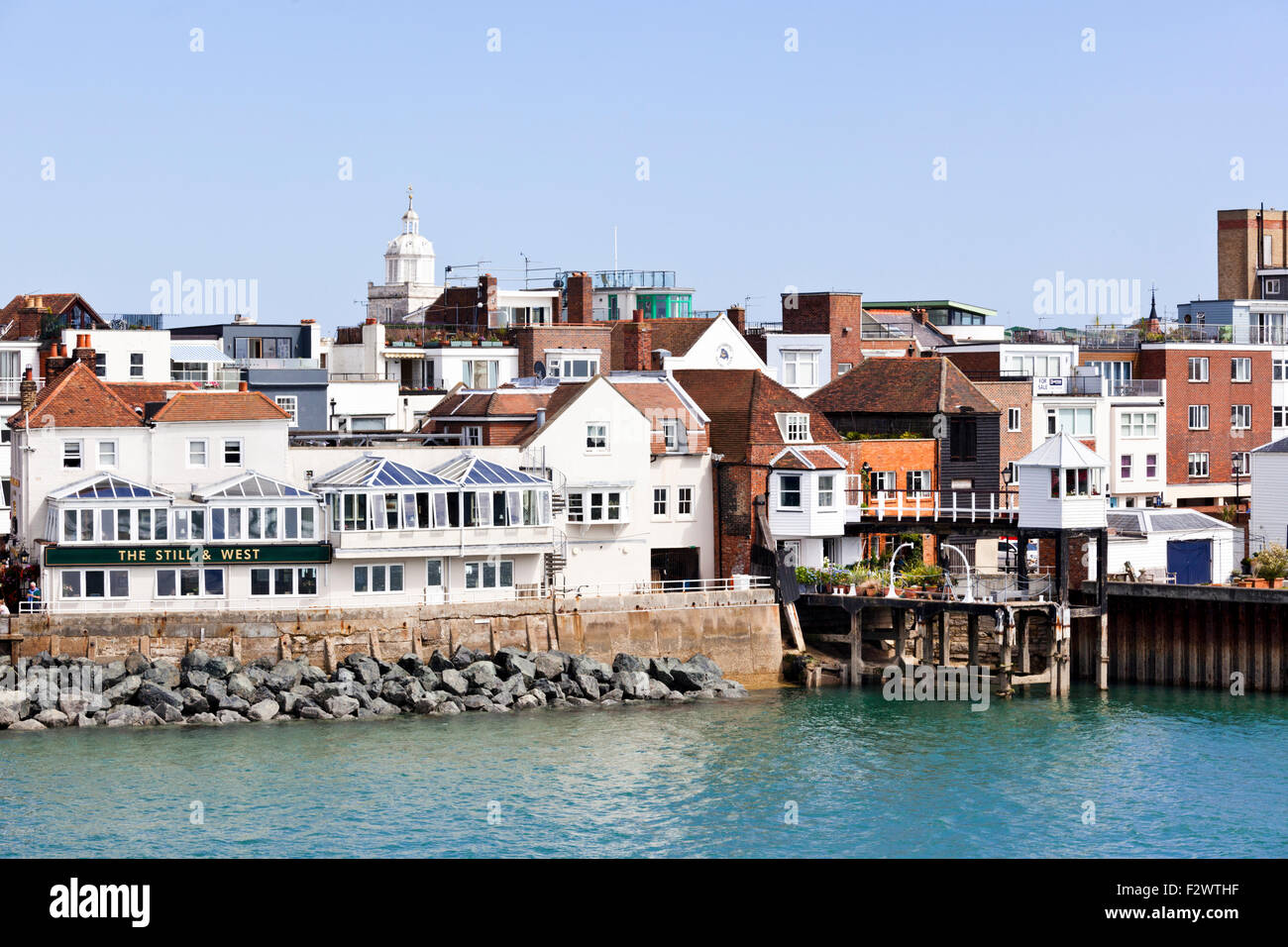 Southsea, Hampshire UK at the entrance to Portsmouth harbour - Stock Image