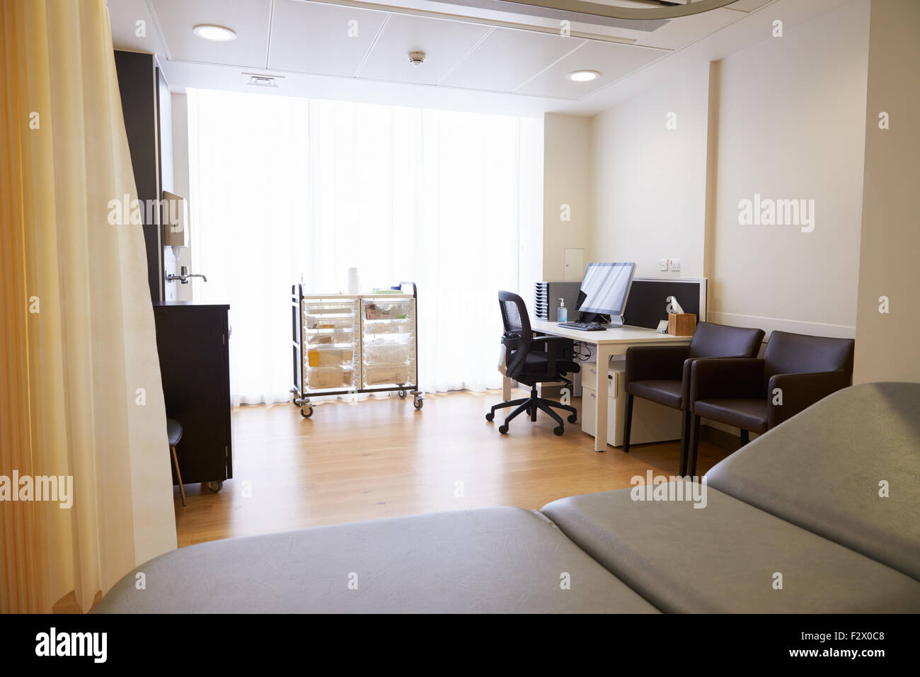View Of Empty Doctor's Surgery - Stock Image