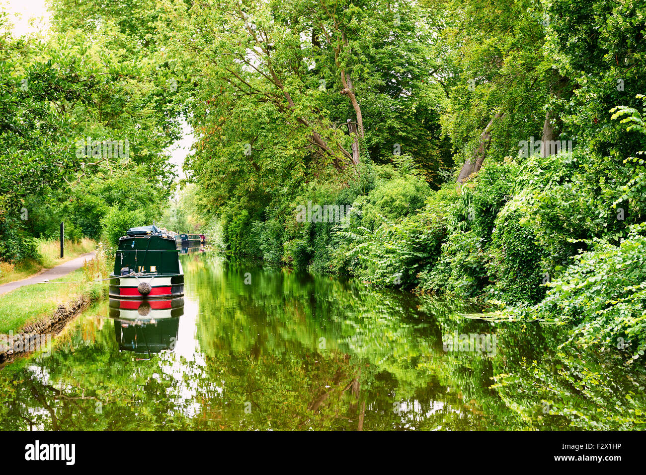 Houseboats in the Oxford Canal, Oxford, Oxfordshire, Great Britain, Europe - Stock Image