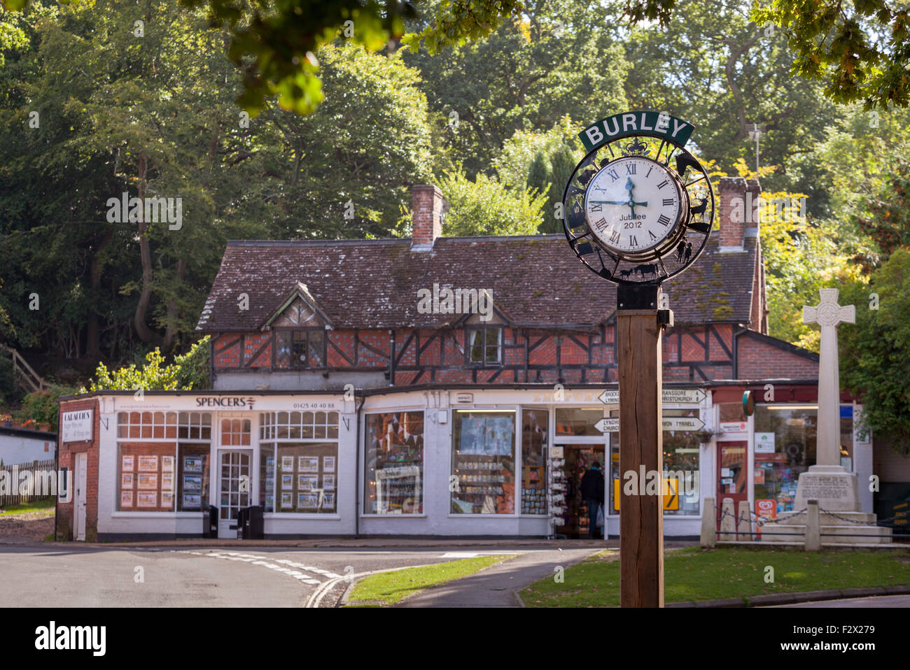 Burley Village in The New Forest, Hampshire, UK - Stock Image