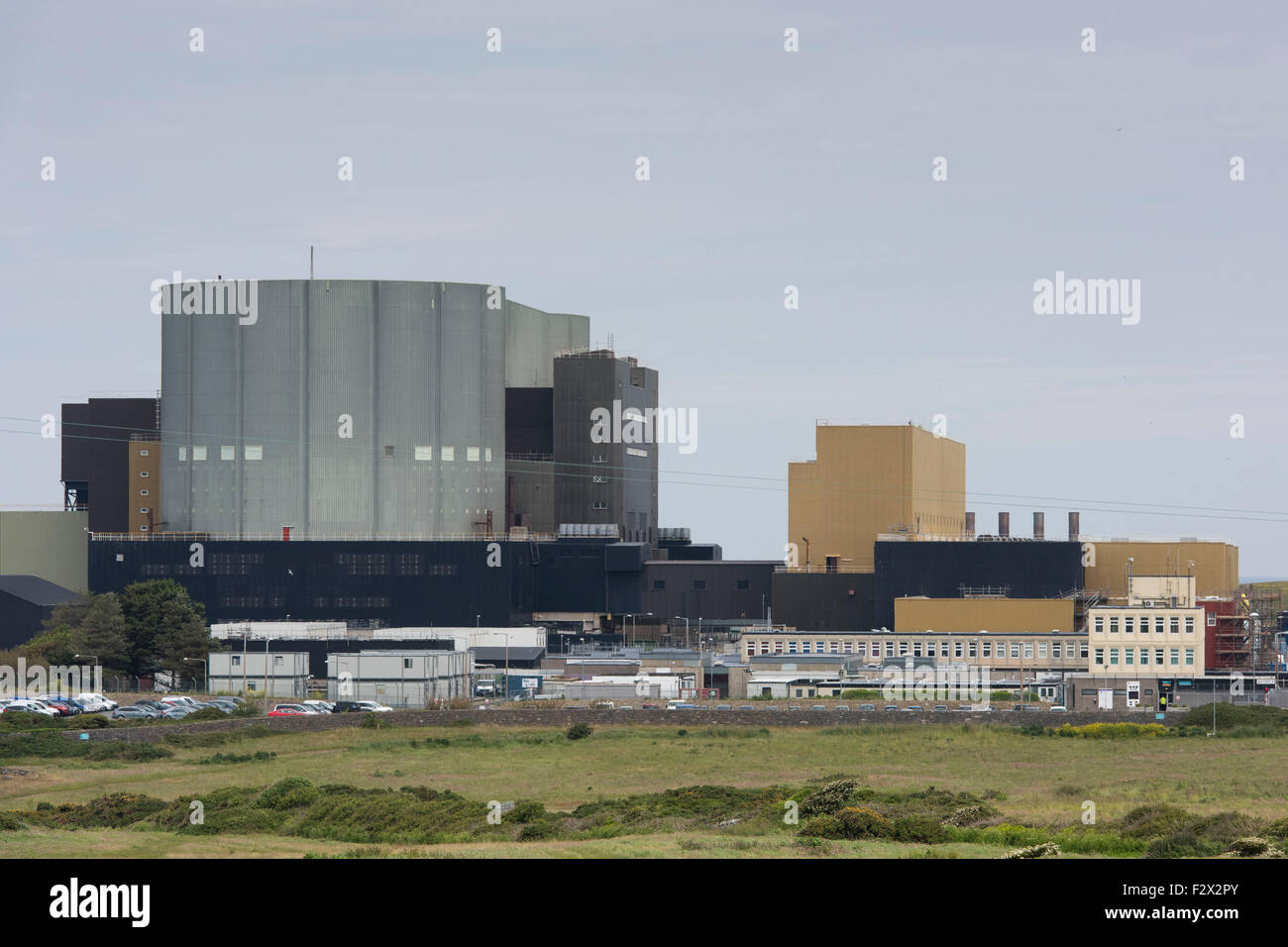 A general view of the disused Magnox Trawsfynydd nuclear power station in Gwynedd, Wales. Stock Photo