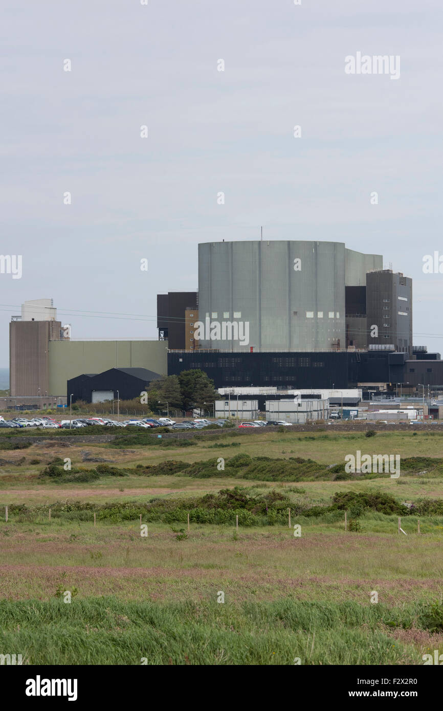 A general view of the disused Magnox Trawsfynydd nuclear power station in Gwynedd, Wales. Stock Photo