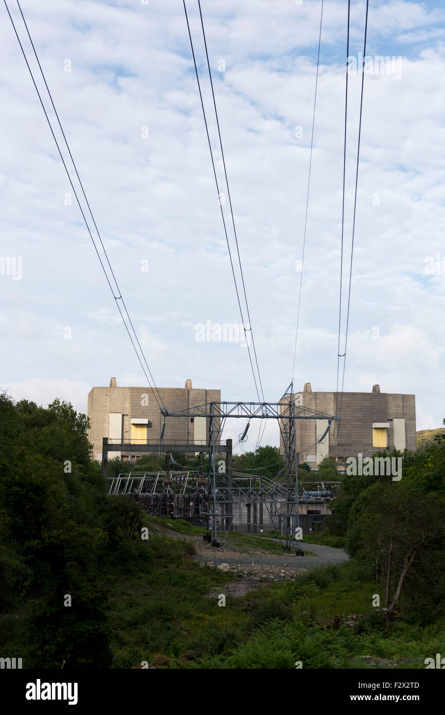 A general view of the disused Magnox Trawsfynydd nuclear power station in Gwynedd, Wales. - Stock Image