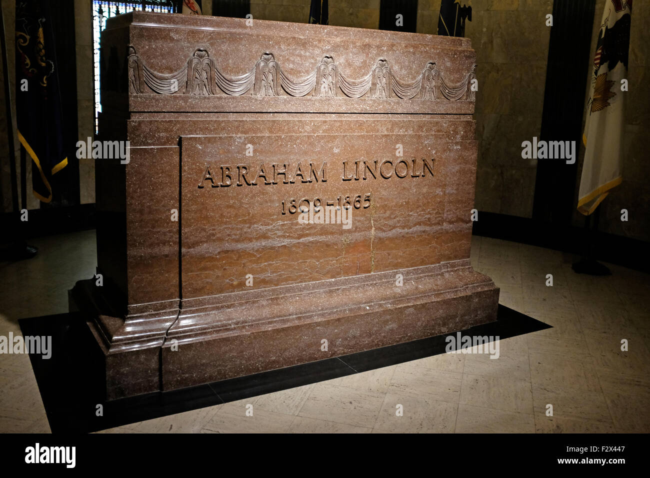 Tomb of Abraham Lincoln in Springfield, Illinois - Stock Image