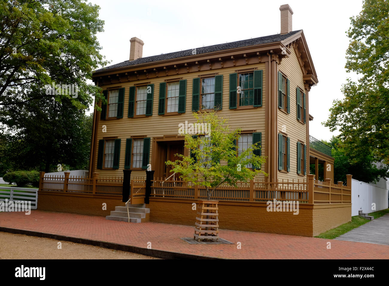 Abraham Lincoln's Home in Springfield, Illinois - Stock Image