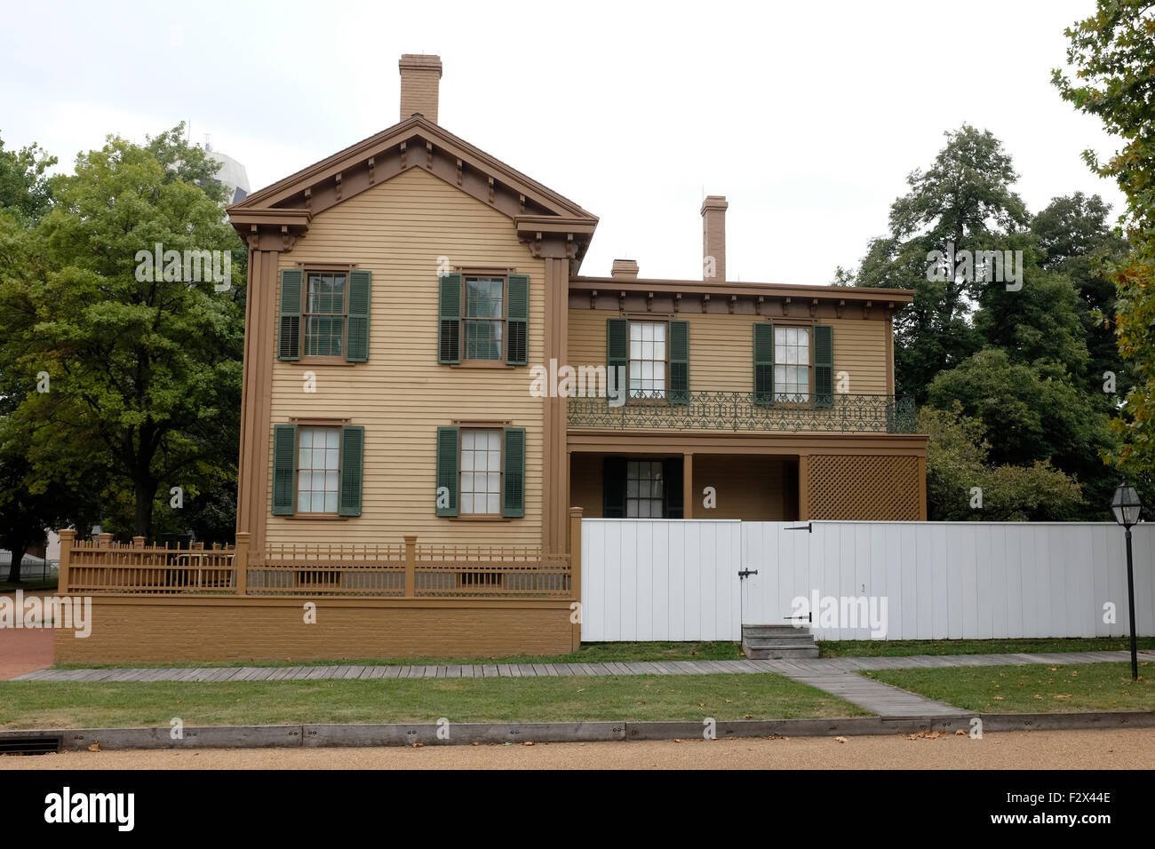 Abraham Lincoln's home, Springfield, Illinois - Stock Image