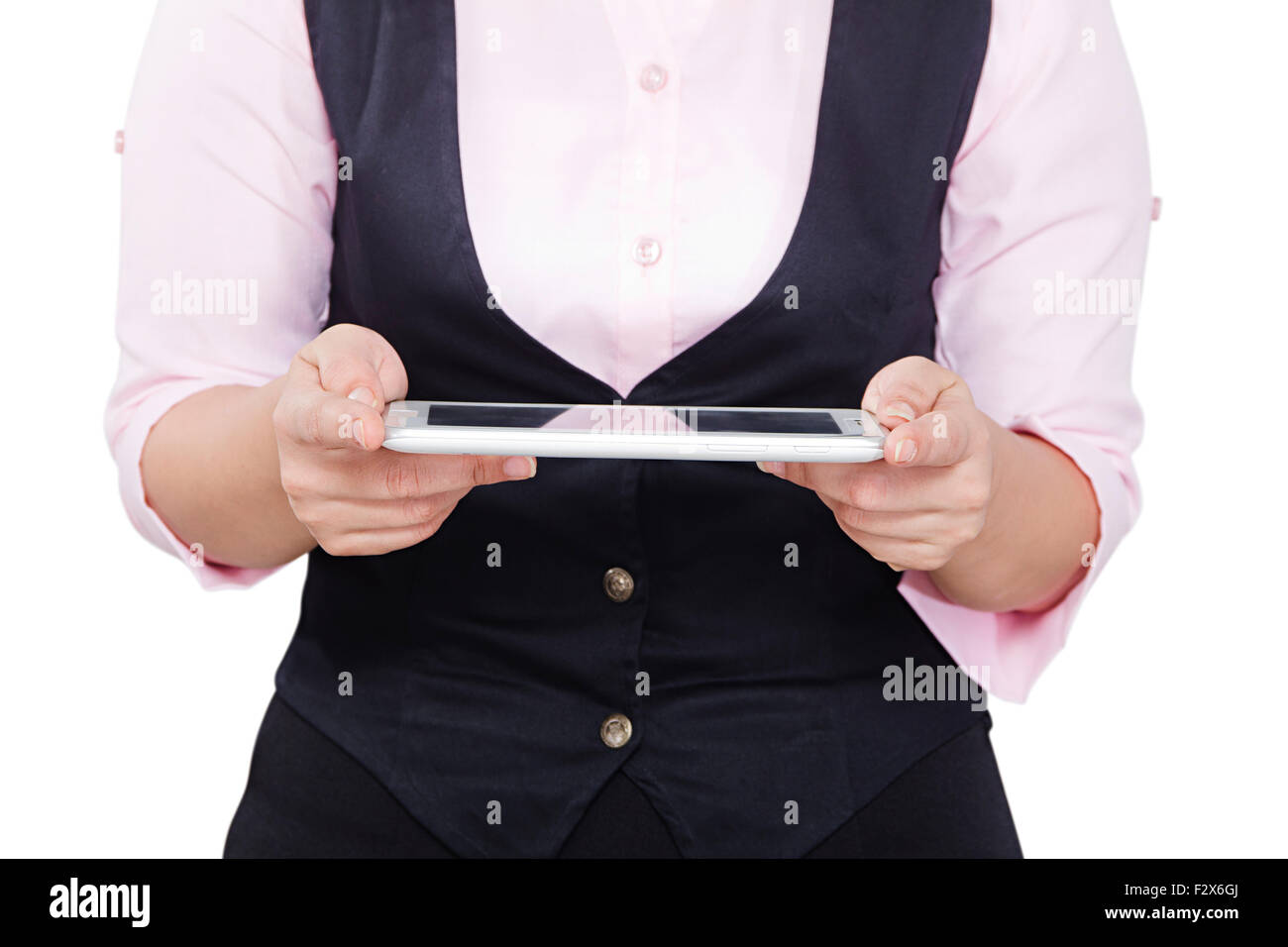 1 Business woman Digital Tablet Technology - Stock Image