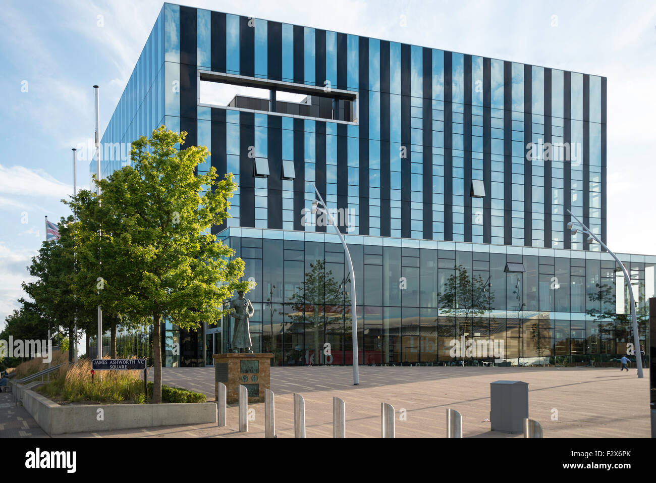 The Core at Corby Cube, George Street, Corby, Northamptonshire, England, United Kingdom - Stock Image