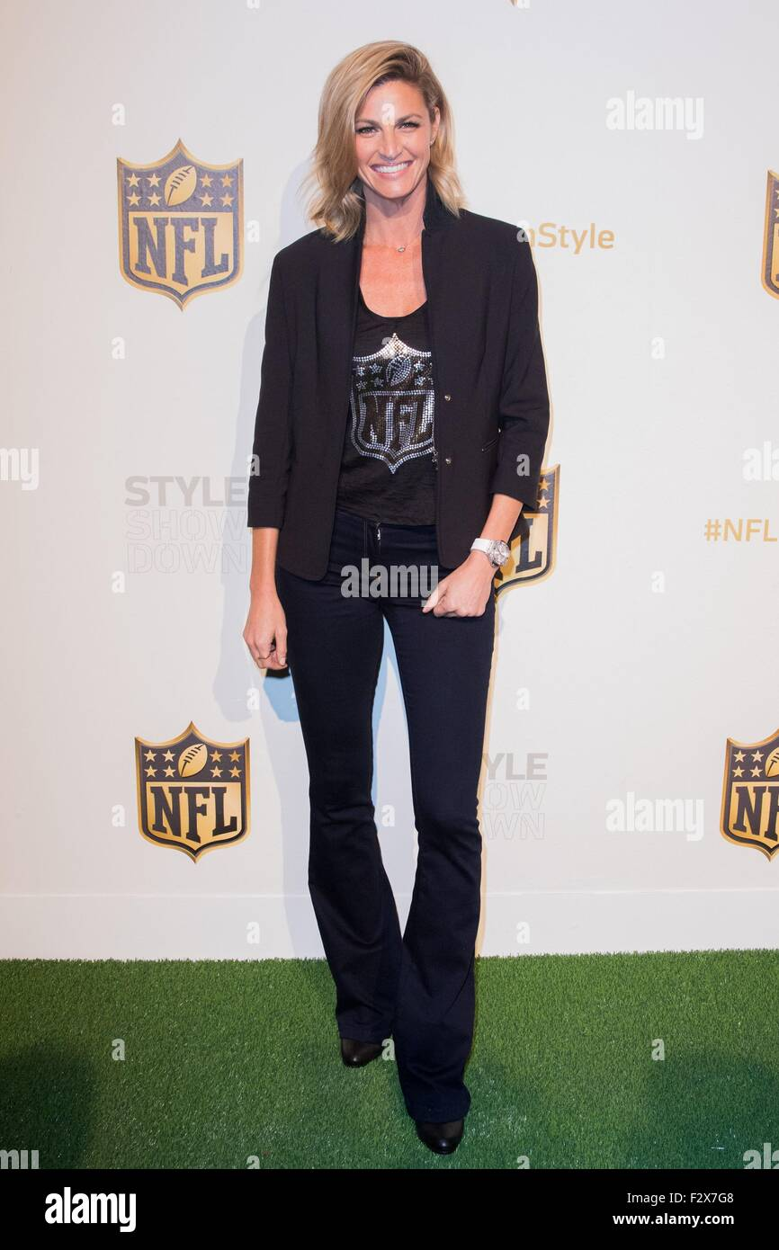 New York, NY, USA. 24th Sep, 2015. Erin Andrews in attendance for NFL Style Showdown, ArtBeam, New York, NY September - Stock Image