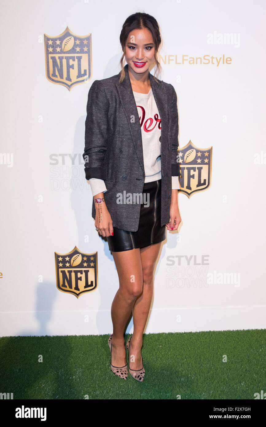 New York, NY, USA. 24th Sep, 2015. Jamie Chung in attendance for NFL Style Showdown, ArtBeam, New York, NY September - Stock Image
