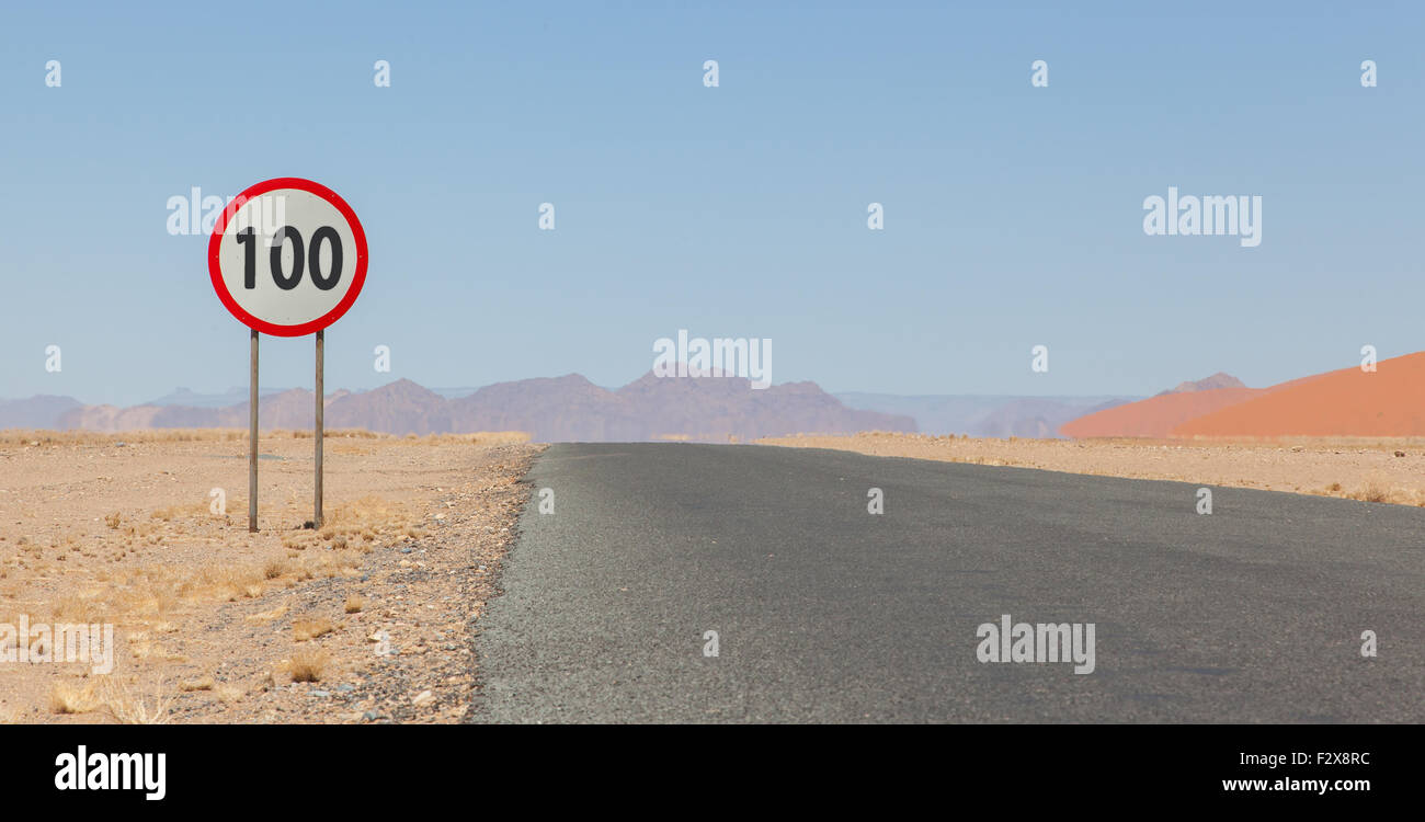 100 Kph To Mph >> Speed Limit Sign At A Desert Road In Namibia Speed Limit Of