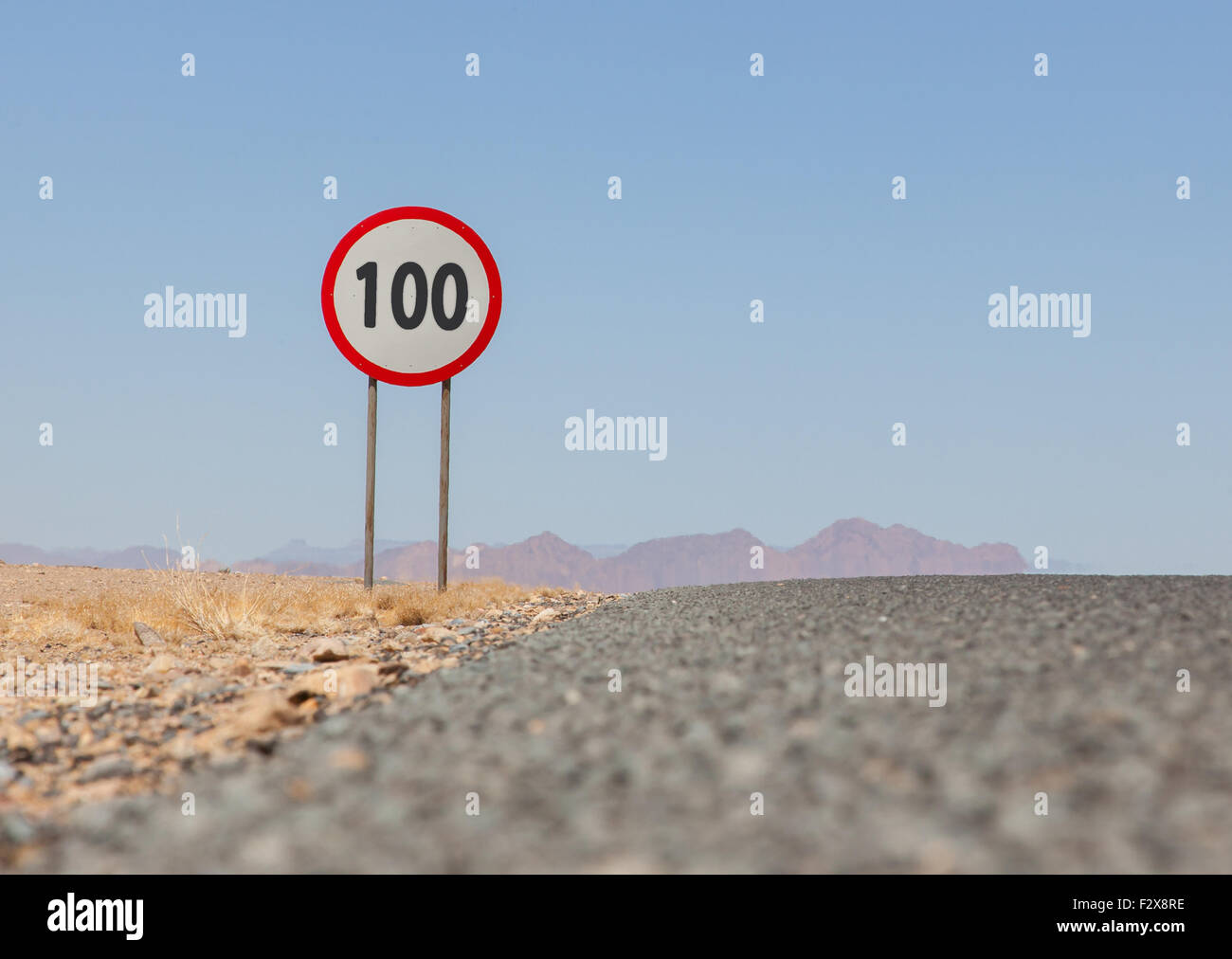 100 Kph To Mph >> Speed Limit Sign At A Desert Road In Namibia Speed Limit Of 100 Kph
