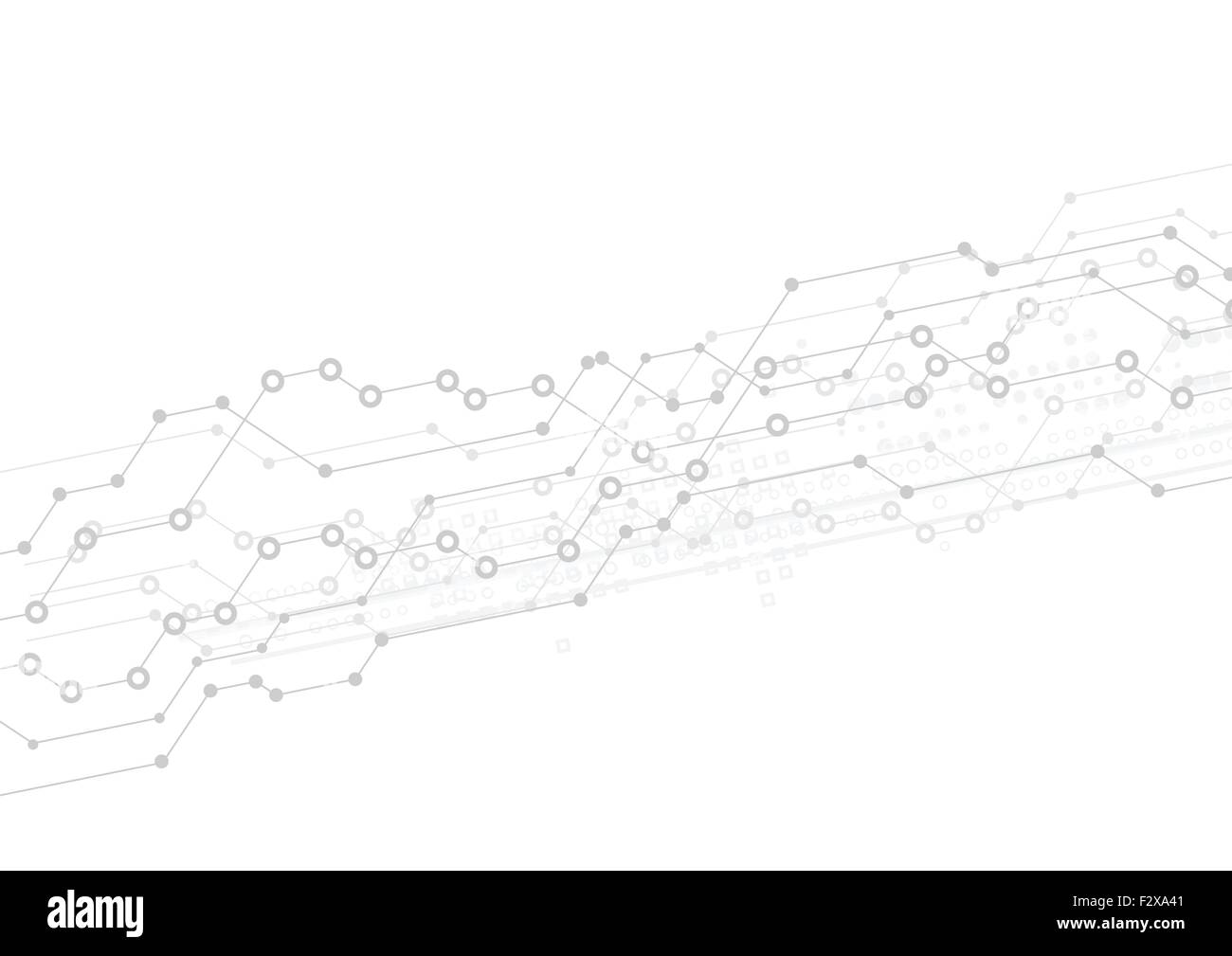 Abstract Light Technology Background With Circuit Board Design Stock Vector Grey Illustration