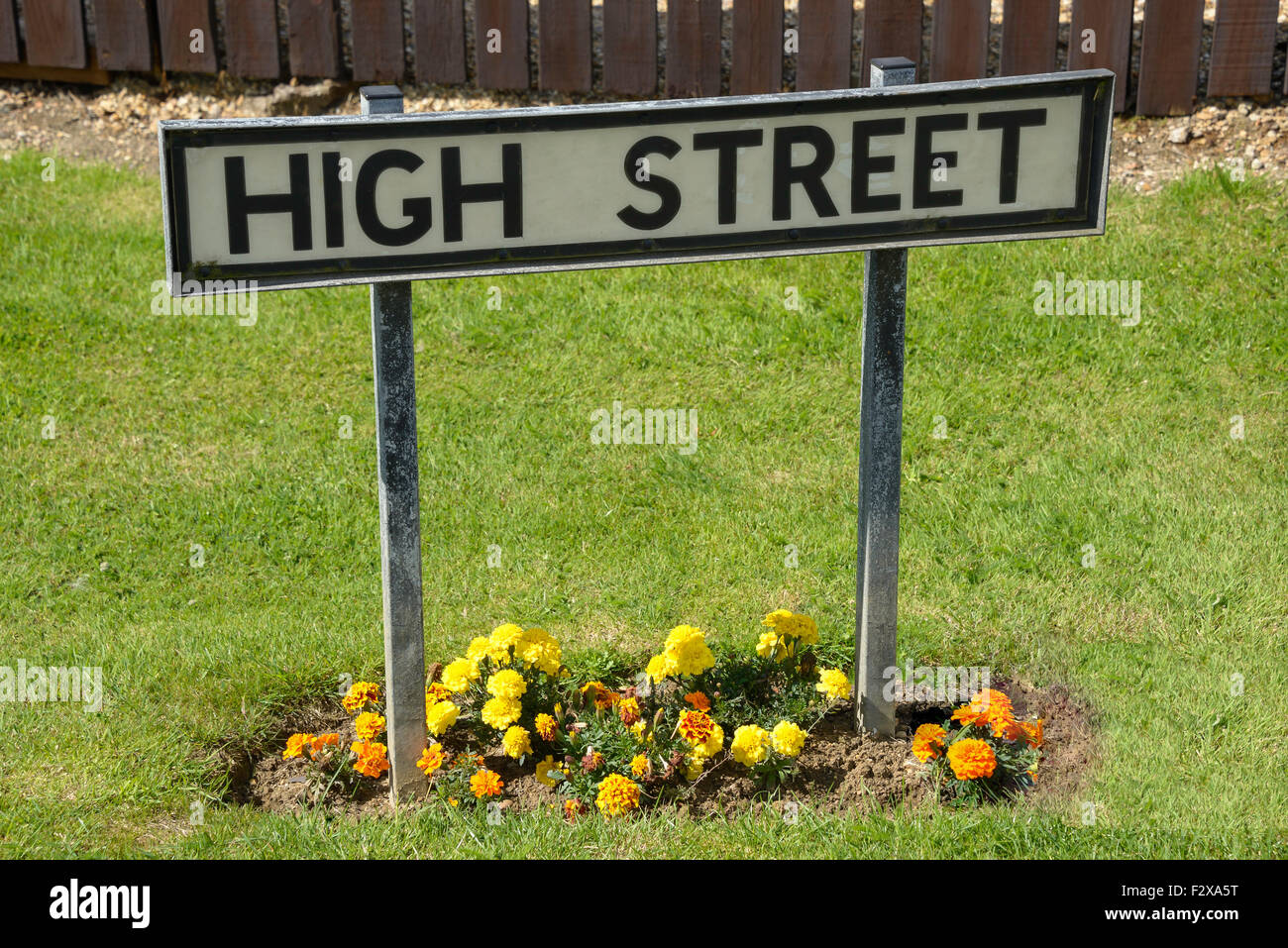 High Street, Silverstone, Northamptonshire, England, United Kingdom - Stock Image