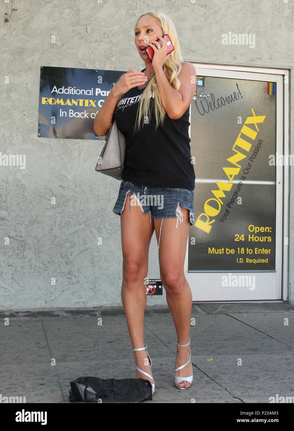 Mary Carey leaves Romantix adult bookstore, dropping her purchase on the  way out Featuring: Mary Carey Where: Los Angeles, California, United States  When: ...