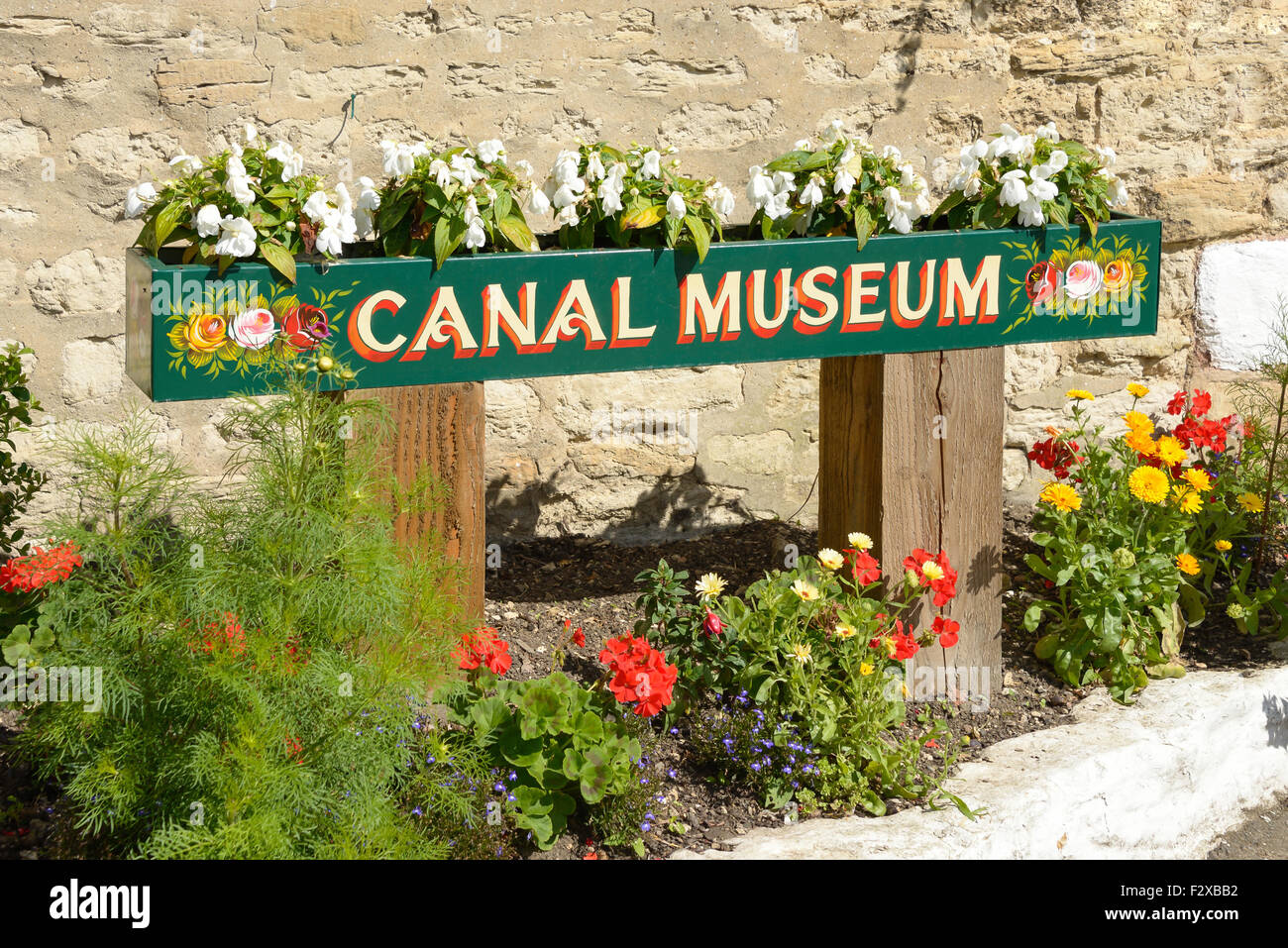 The Canal Museum on Grand Union Canal, Stoke Bruerne, Northamptonshire, England, United Kingdom - Stock Image