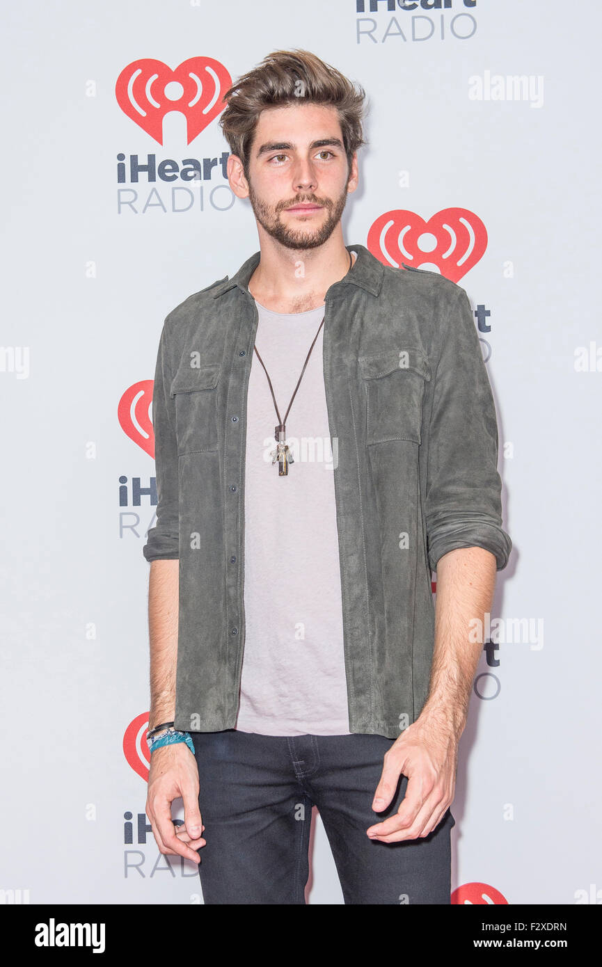 Singer Alvaro Soler attends the 2015 iHeartRadio Music Festival at MGM Grand Garden Arena in Las Vegas Stock Photo
