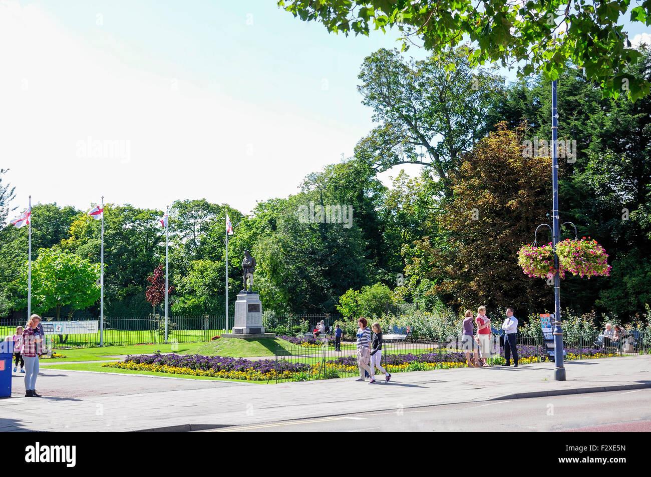 War Memorial, Central Park, Dartford, Kent, England, United Kingdom - Stock Image