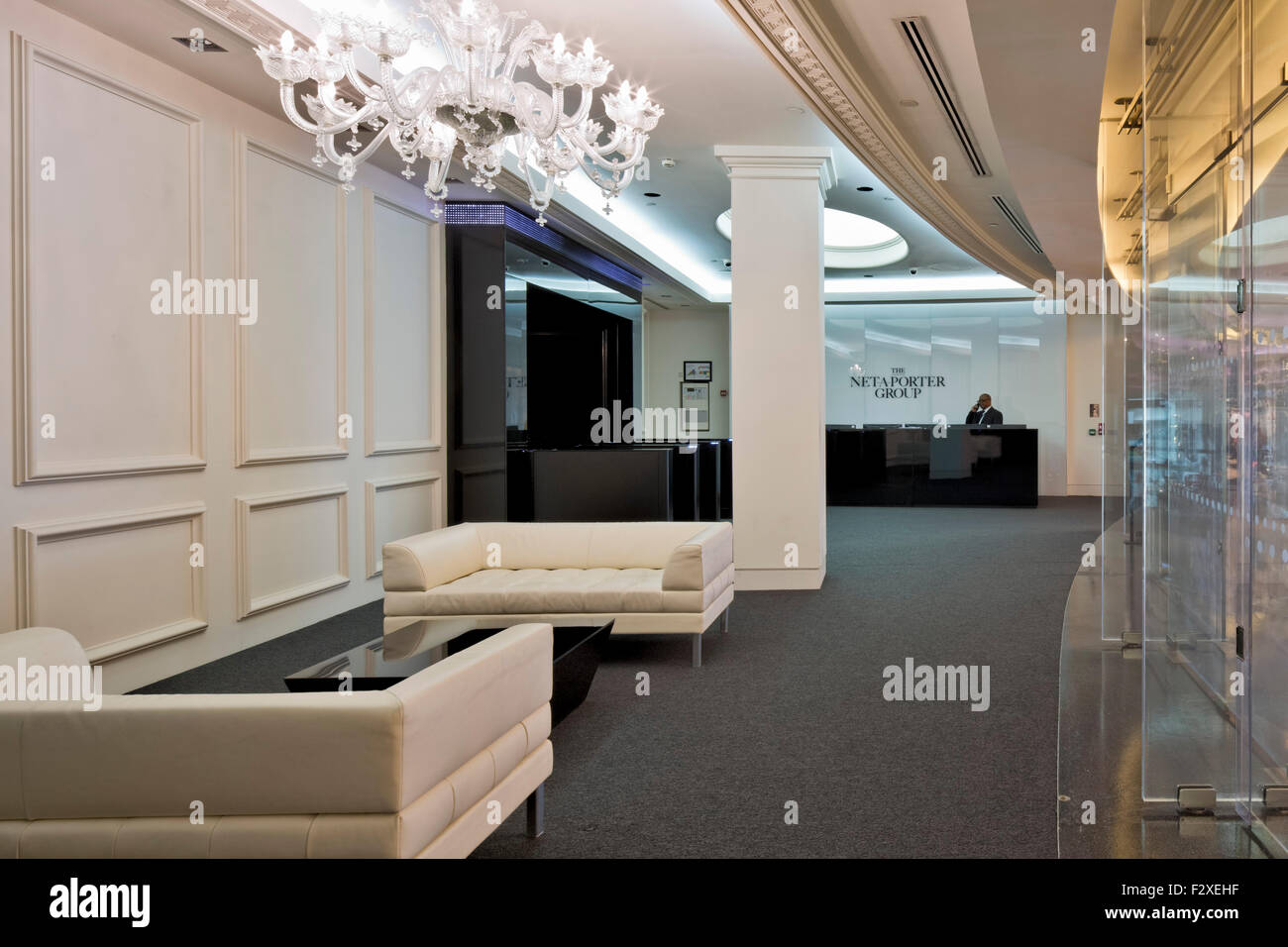 24437f46fb79 Reception Net A Porter Offices Westfield Centre Stock Photos ...