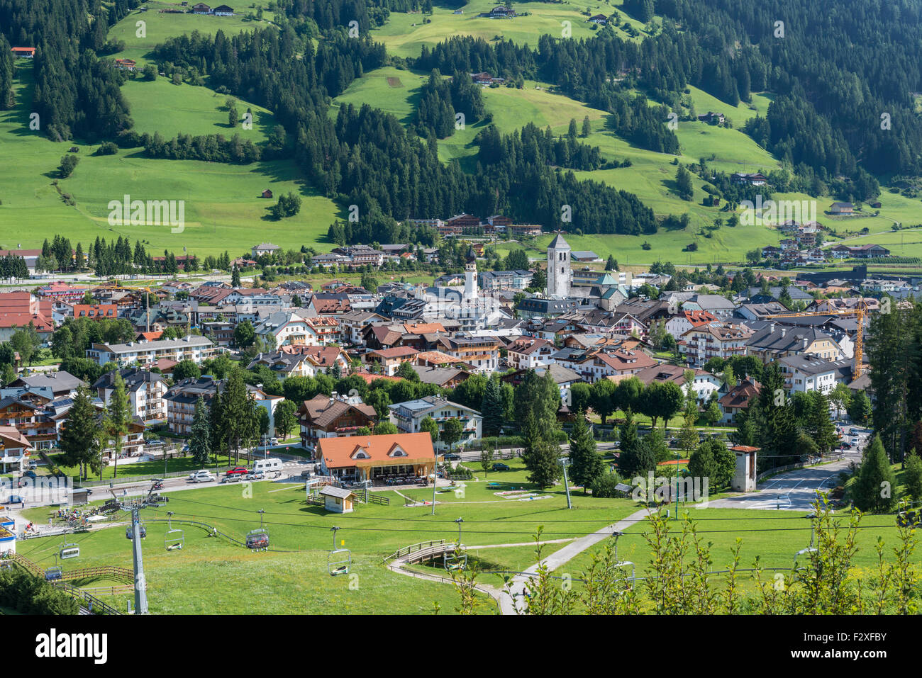 Innchen or San Candido, Dolomites, Trentino-Alto Adige, Province of South Tyrol, Italy - Stock Image