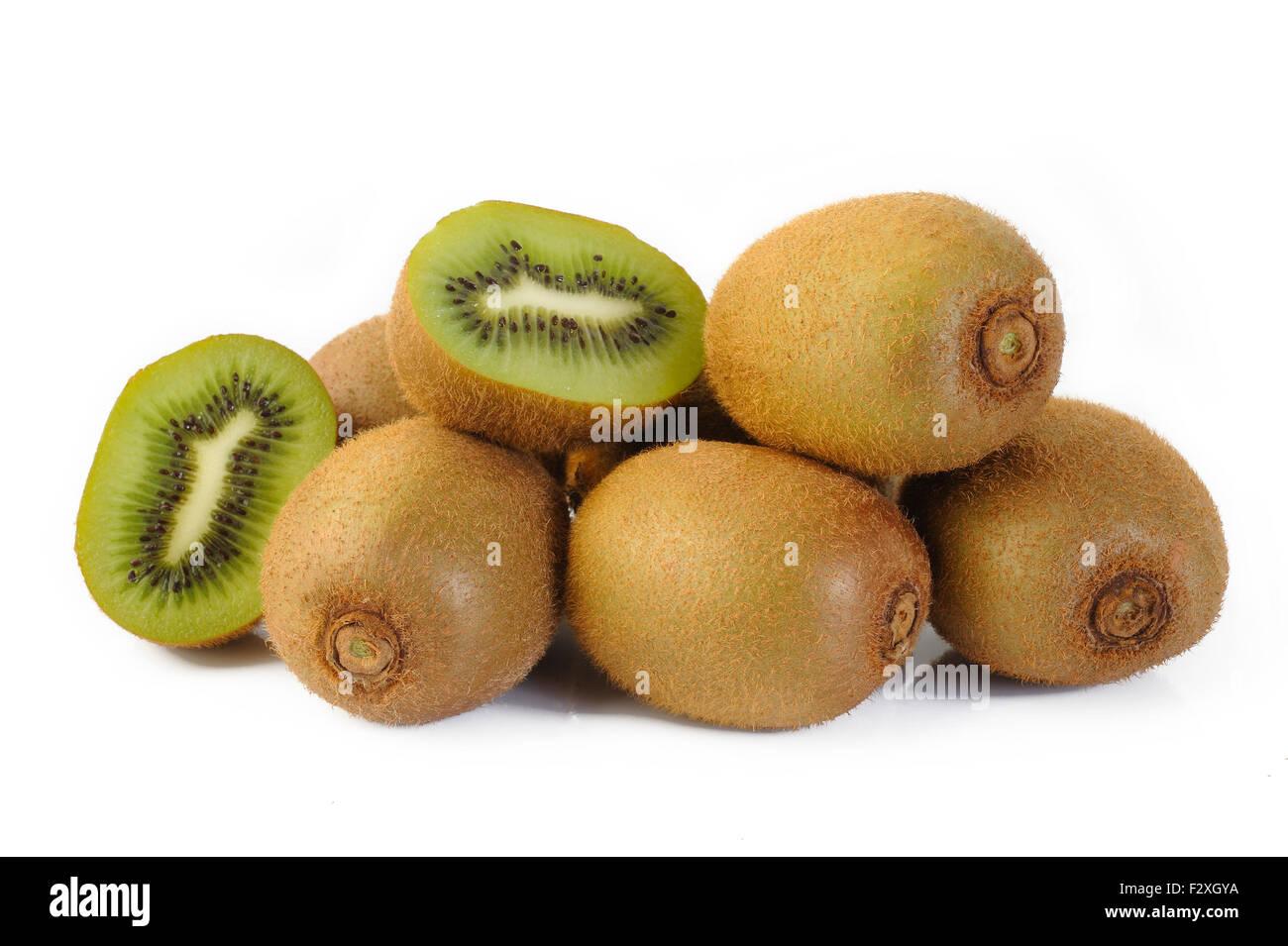 Kiwi fruit sliced - Stock Image