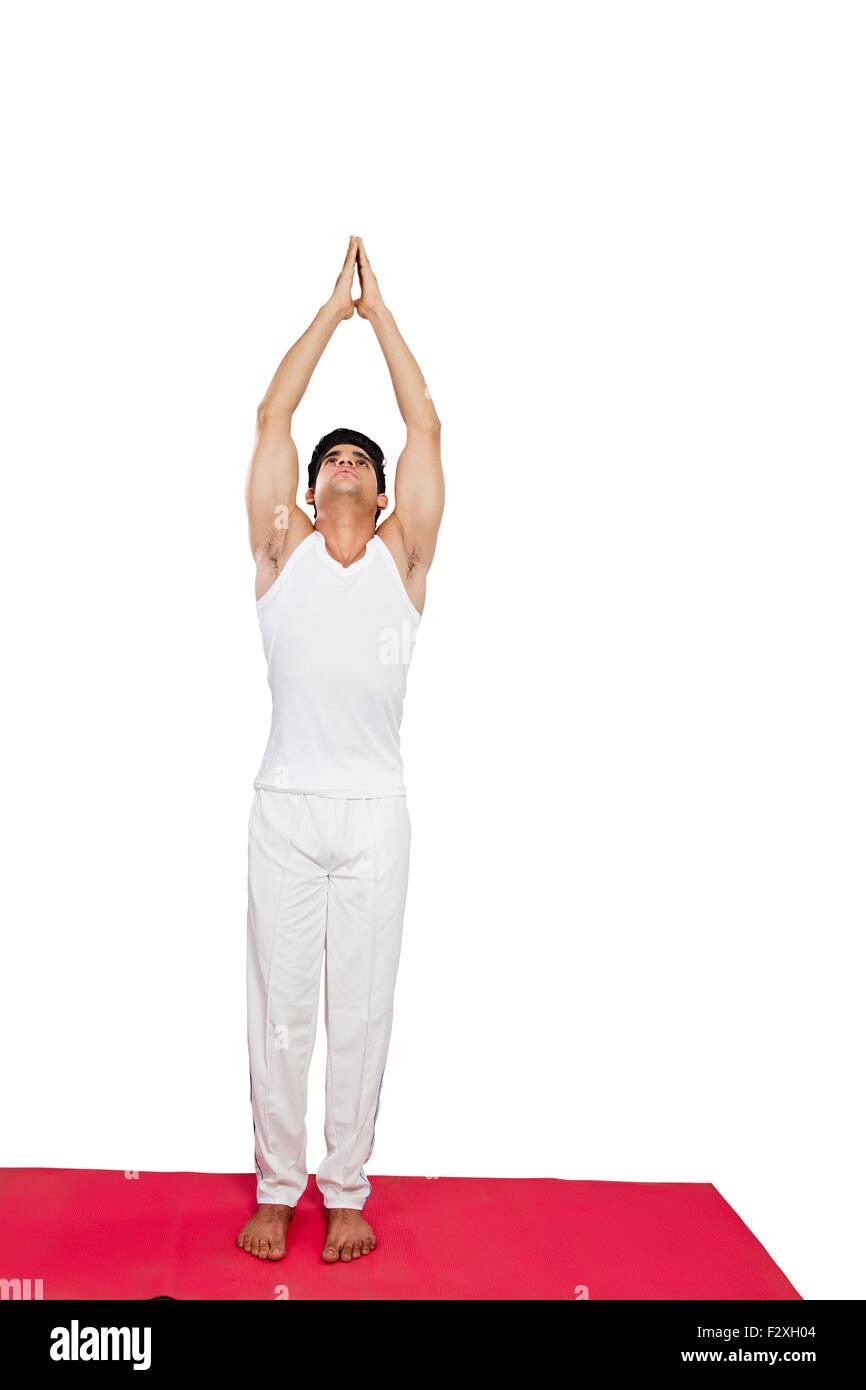 1 Indian Adult Man Yoga Surya Namaskar