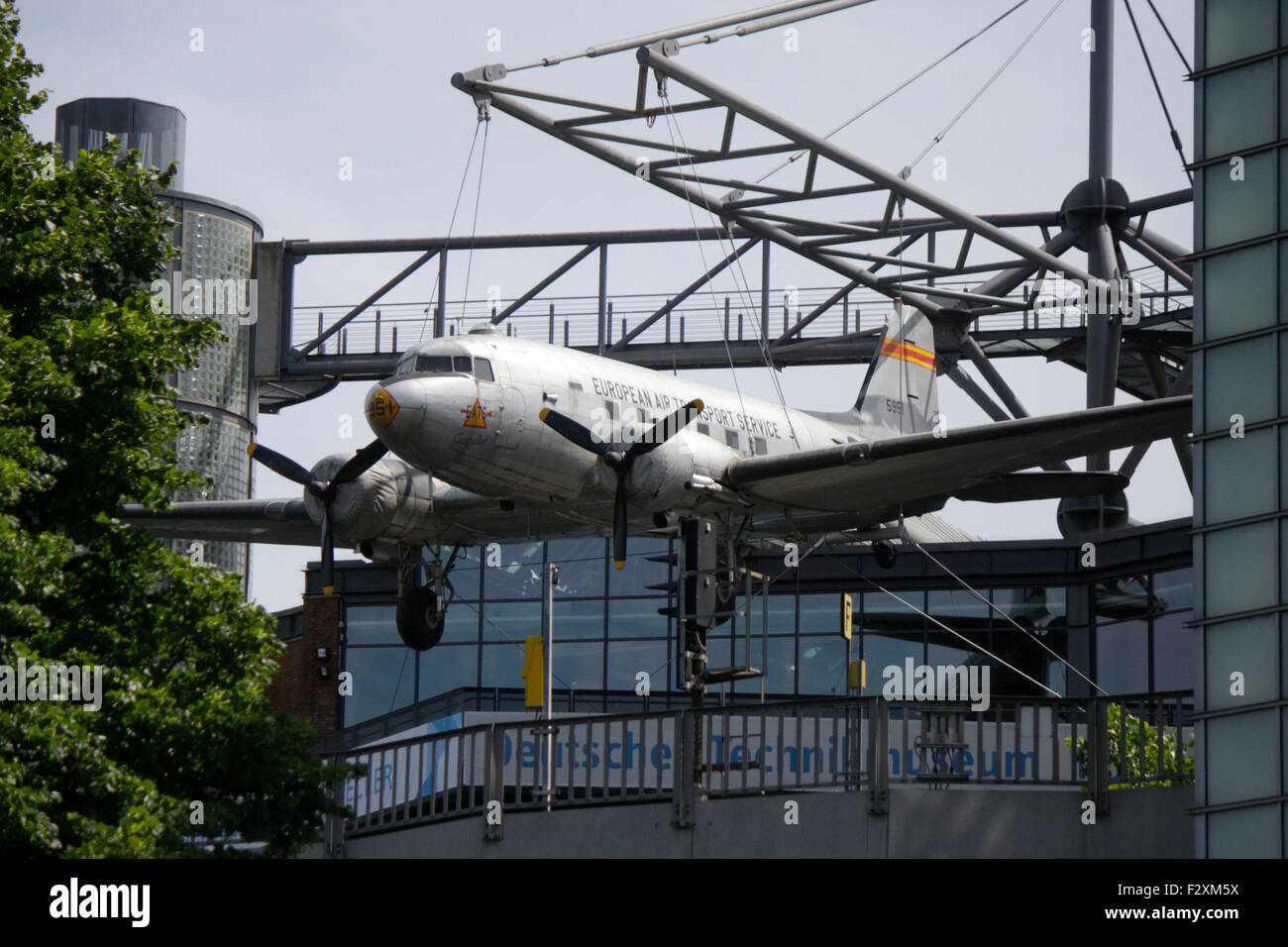 'Rosinenbomber' auf dem Dach des Deutschen Technikmuseums, Berlin-Kreuzberg. - Stock Image