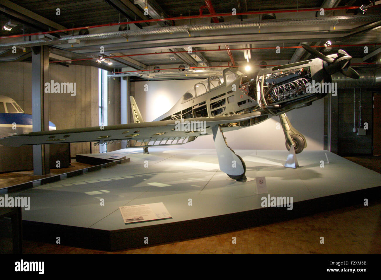 Flugzeug - Deutsches Technikmuseum, Berlin-Kreuzberg. - Stock Image
