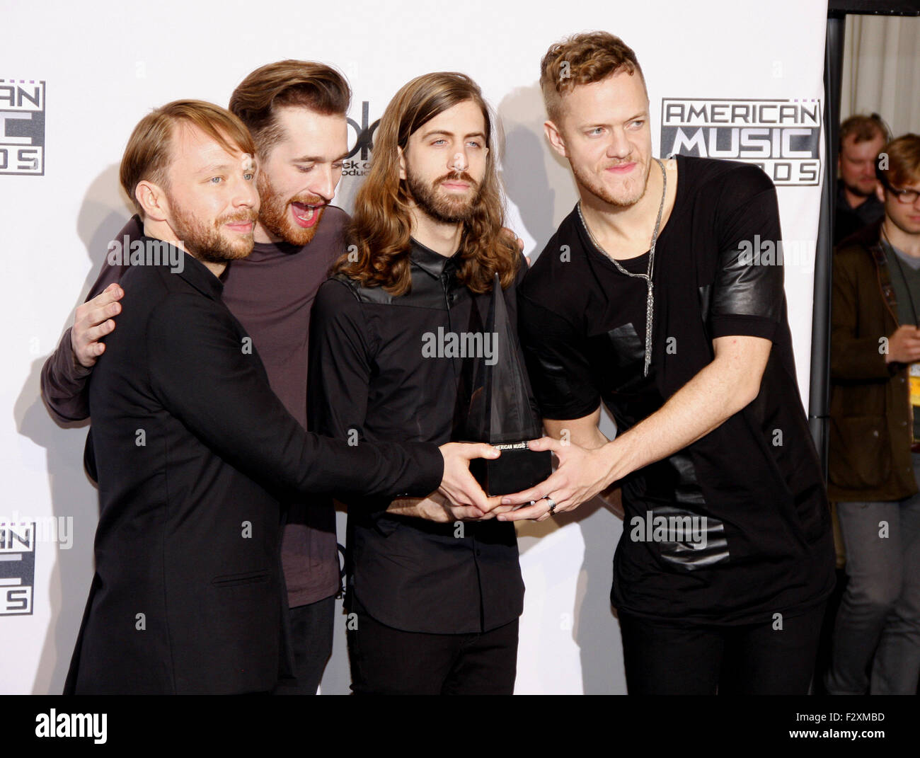 Imagine Dragons at the 2014 American Music Awards held at the Nokia Theatre L.A. Live in Los Angeles on November - Stock Image